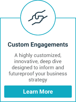 A highly customized, innovative, deep dive designed to inform and future proof your business strategy